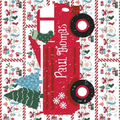 Mitten Party Fire truck  Snow - Personalized Paul Thomas2