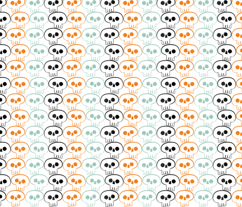 The Skulltimate Skulls fabric by ldqcanada on Spoonflower - custom fabric