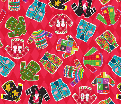 Ugly Snuglies fabric by amybiggers on Spoonflower - custom fabric
