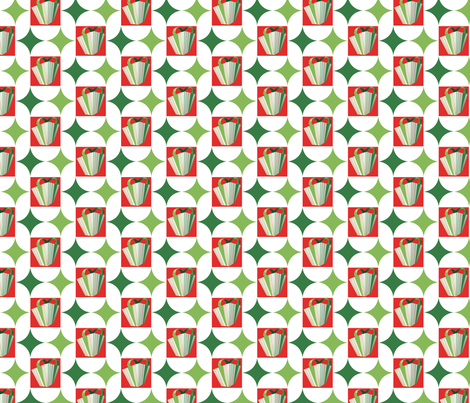 Peppermint Geometric Gift fabric by moxieart on Spoonflower - custom fabric