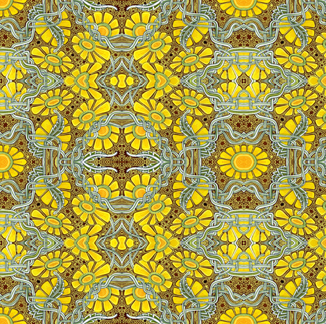Space Age Daisy Toss fabric by edsel2084 on Spoonflower - custom fabric