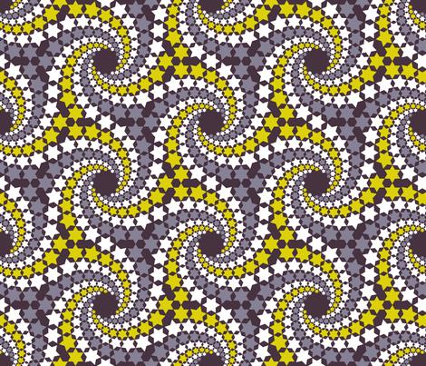 02641494 : mandala 12~ : starry midsummer night fabric by sef on Spoonflower - custom fabric
