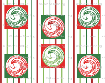 Peppermint Swirls on Stripe