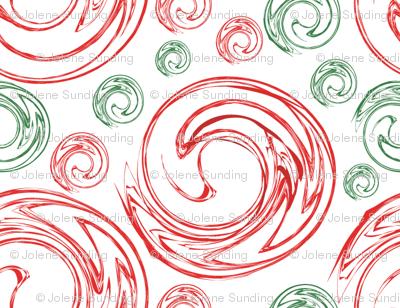 Peppermint Swirl Toss Red