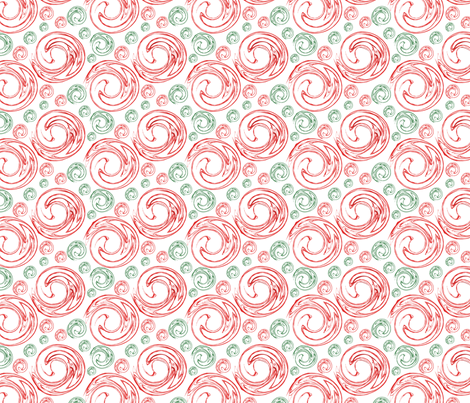 Peppermint Swirl Toss Red fabric by moxieart on Spoonflower - custom fabric