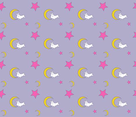Usagiu0027s Bed Sheets (Small Print Edition)   Sailor Moon   Rabbit Moon Star  Fabric