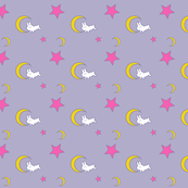 Usagi's Bed Sheets (Small Print Edition) - Sailor Moon - Rabbit Moon Star