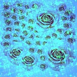 Disco Roses - Blue Curacao