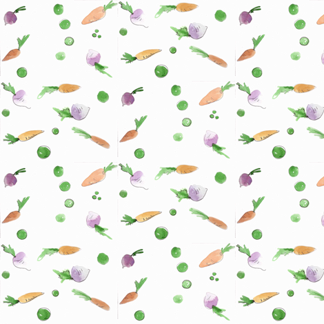 Vegetables-ed fabric by cwporche on Spoonflower - custom fabric