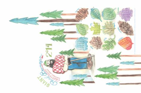 My Oregon -- Paul Bunyan, Portland fabric by nightgarden on Spoonflower - custom fabric