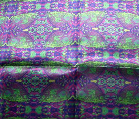 BUTTERFLIES ON THE ROCKS Purple Green