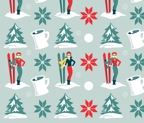 retroski fabric by monalila on Spoonflower - custom fabric