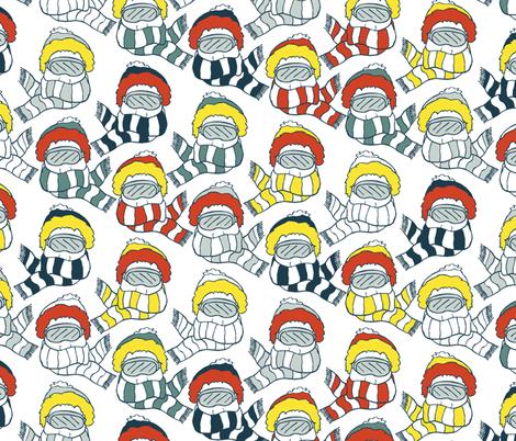 Skier Fashion fabric by pond_ripple on Spoonflower - custom fabric