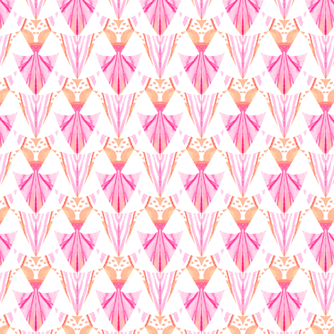 Watercolor arrow head light pink fabric by emilysanford on Spoonflower - custom fabric