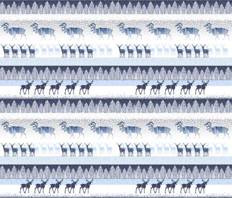 SANTA CLAUSE'S REINDEERS WEARING SWEATERS IN THE FREEZING COLD NORTH POOL  fabric by mariskadesign on Spoonflower - custom fabric