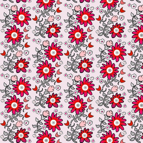 flower_print_gray_red_pink