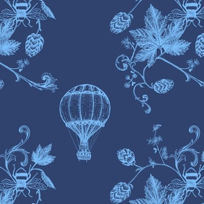 Botanic Ballooning in Blue