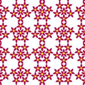Red Stars in Pentagons and Diamonds