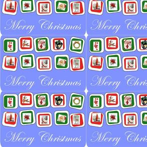 Blue Retro Christmas