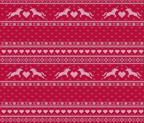 Christmas Unicorns  fabric by logan_spector on Spoonflower - custom fabric