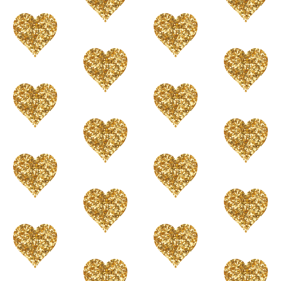 Gold Glitter Hearts Baby Fabric Wallpaper  Willowlanetextiles  Spoonflower