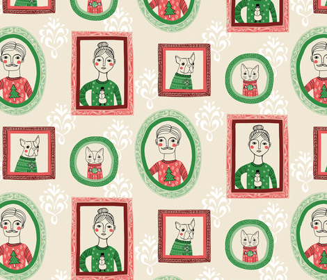 Ugly Sweater Family fabric by annewashere on Spoonflower - custom fabric