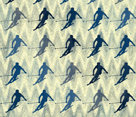 Downhill Blues fabric by jabiroo on Spoonflower - custom fabric
