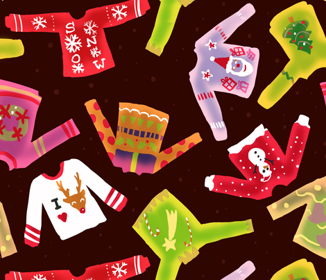 Christmas Sweaters fabric by risu_rose on Spoonflower - custom fabric