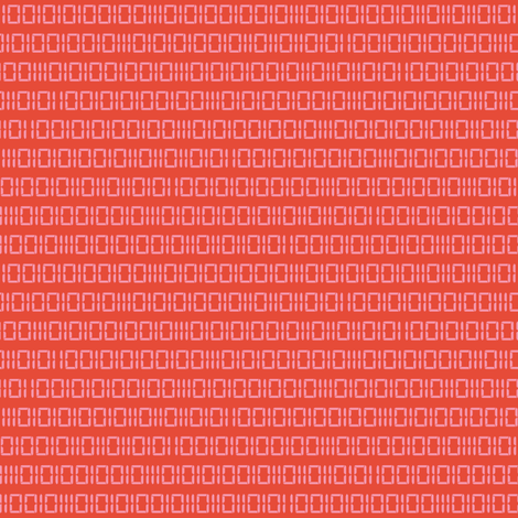 Robot Binary (Coral) fabric by robyriker on Spoonflower - custom fabric