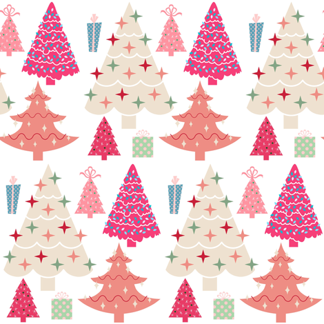 Pink Christmas.Pink Christmas Wallpaper Thepinkhome Spoonflower