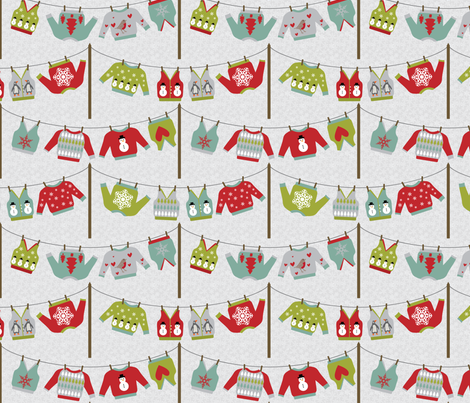 Ugly sweater wash day fabric by ebygomm on Spoonflower - custom fabric