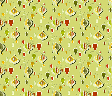 Fruit of the Earth green50 fabric by chicca_besso on Spoonflower - custom fabric