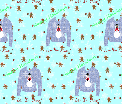 Happy_Holidays_Sweater1 fabric by hmilwicz on Spoonflower - custom fabric