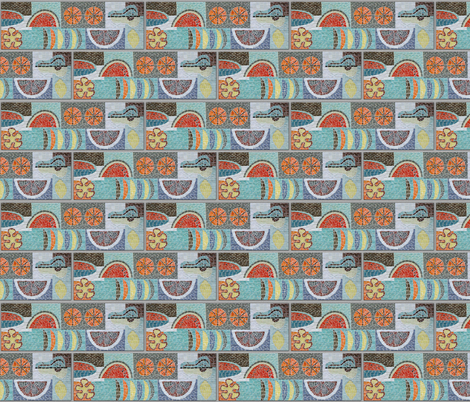 Mosaic Tile grouted fabric by d10 on Spoonflower - custom fabric