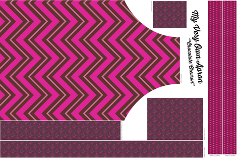 Chocolate Chevron Apron fabric by brainsarepretty on Spoonflower - custom fabric
