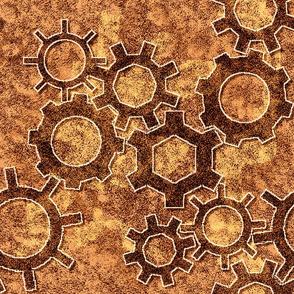 Simple Gears in Copper tones