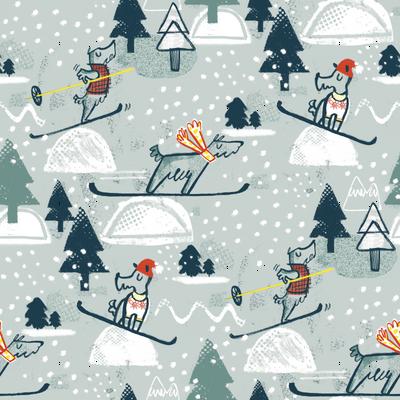 Ski Ski Skiing Scotties