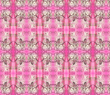 artistamp rabbit - pink fabric by cathymcg on Spoonflower - custom fabric