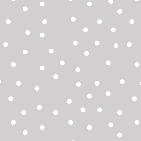 polka dot white on gray fabric by pencilmein on Spoonflower - custom fabric