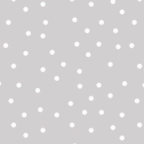 polka dot white on gray