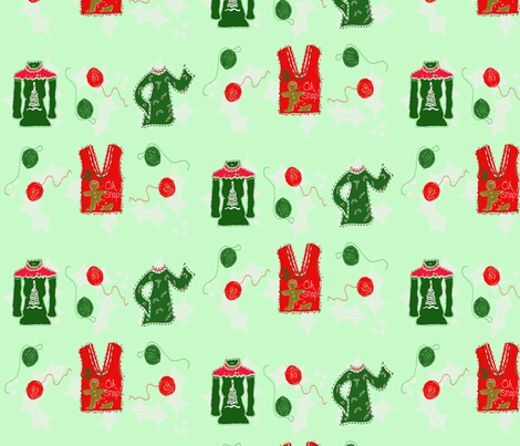 3UglySweaters fabric by chovy on Spoonflower - custom fabric