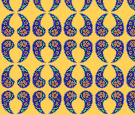 paisley nouveau fabric by timaroo on Spoonflower - custom fabric
