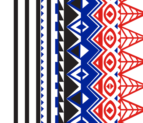 Maasai fabric by cherii on Spoonflower - custom fabric