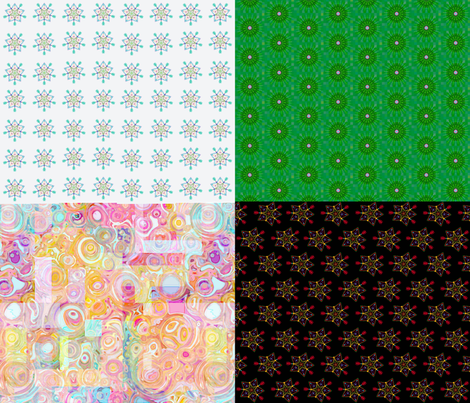 night and day fat quarter sampler fabric by keweenawchris on Spoonflower - custom fabric