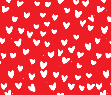 cestlaviv_pure hearts fabric by cest_la_viv on Spoonflower - custom fabric