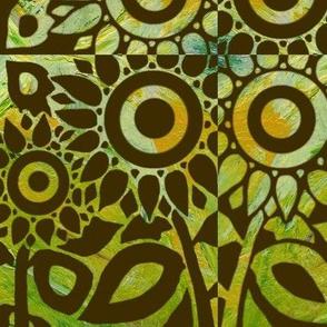 green sunflower
