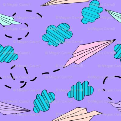 pastel paper airplane medium