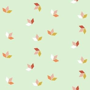 Little Ships Pastel Fall Leaves