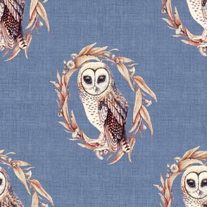 Sooty Owl in Linen Lighthouse Blue