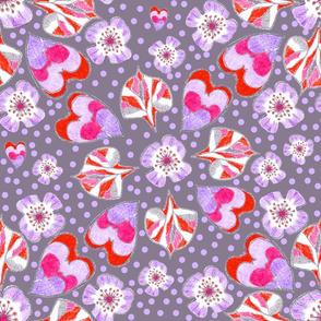 Retro_floral_tangerine
